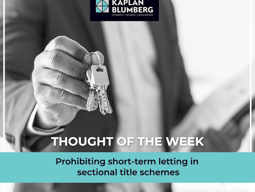 Prohibiting short-term letting in Sectional Title Schemes