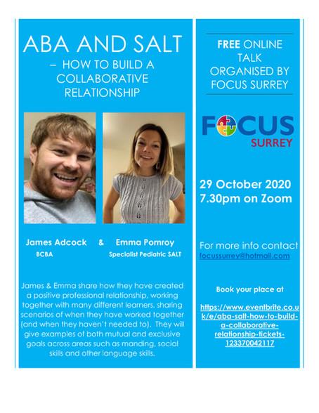 Focus Takes Guest Speaker Series On-Line
