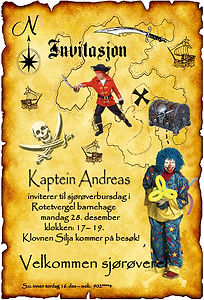 Piraten_Sol_Sjørøverfest_Pirat_med_Klovn