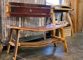 Wine Stave Bench