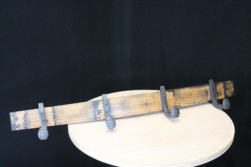 Whiskey Barrel Stave/Railroad Ty Coat Rack