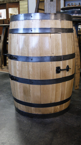 Refinished Barrel Cabinet