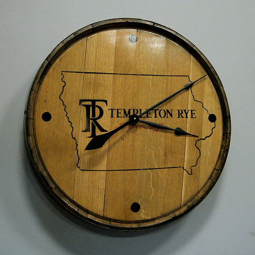Templeton Rye Clock with Barrel Band