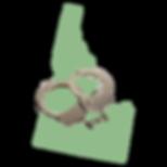 Idaho Map with Cuffs