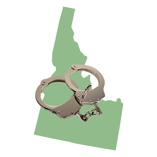 Idaho Map with Cuffs