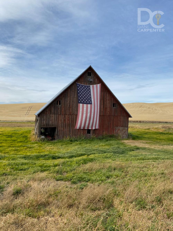 Flag on a Barn