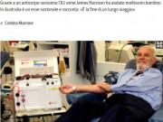 La storia del donatore australiano che ha salvato tanti bambini