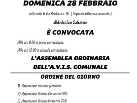Assemblea Ordinaria A.V.I.S. Comunale
