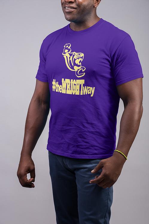 Purple Benedict College Denver L Wright Tee