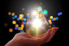 An inspirational lightbulb - symbol of learning