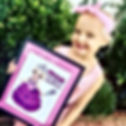 """That's Me!"" exclaimed Deliah when she saw her poster of Ella The Enchanted Princess!"