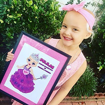 """""""That's Me!"""" exclaimed Deliah when she saw her poster of Ella The Enchanted Princess!"""