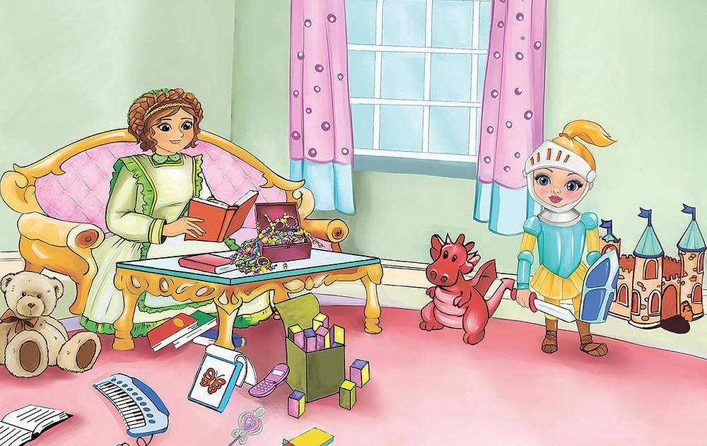 Nanny reading to Princess Ella!