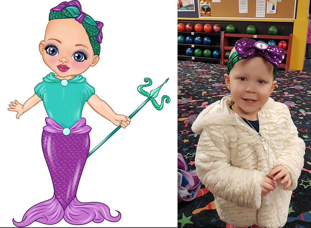 Cadence Wears Princess Ella's Headband