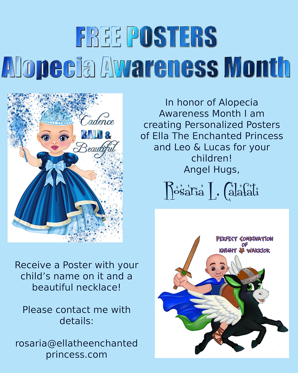 FREE Poster Alopecia Awareness Month