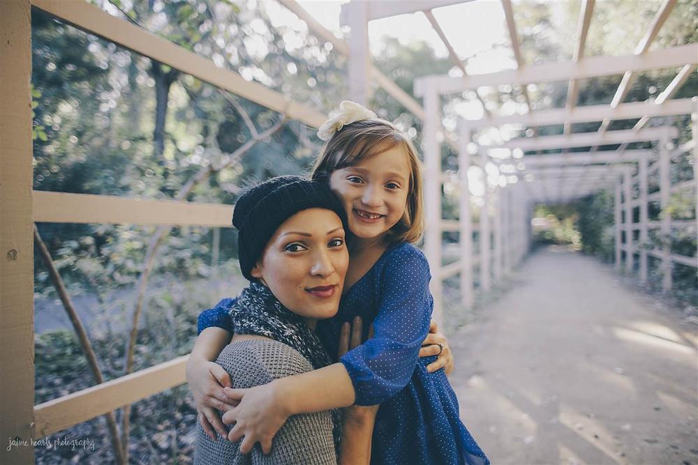 Rachel Regal and Ellie Regal, 7, in 2013