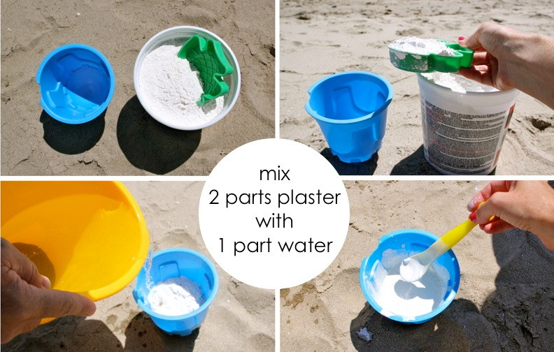 Mix 2 parts plaster with 1 part water!