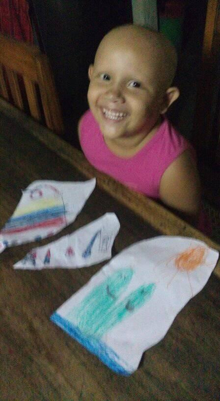 Maria Bethany showing off her artwork!