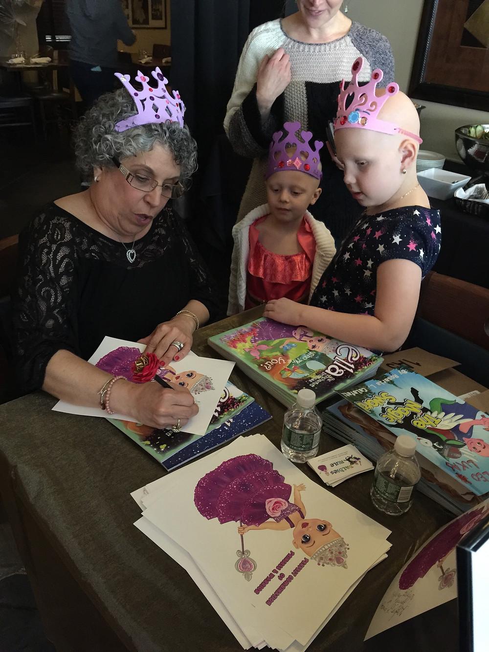 Rosaria L. Calafati signing books