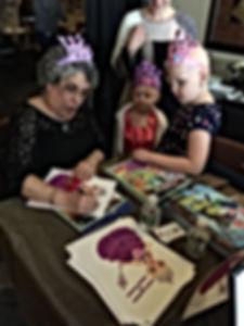 Rosaria signing books!