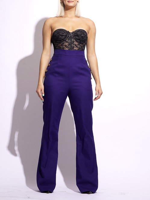 Semi Flare Trouser (Plum)