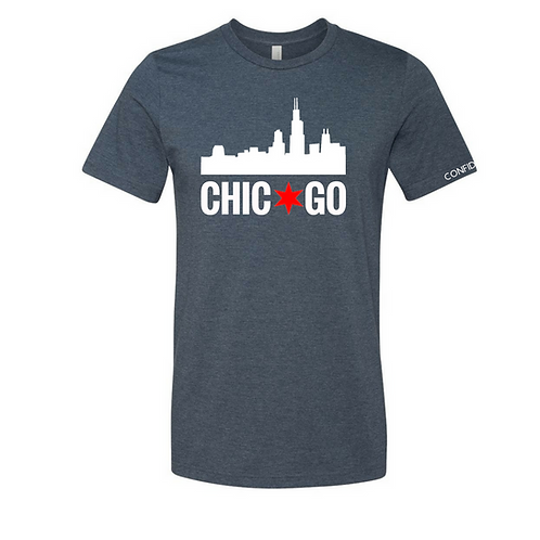 Chicago Skyline Tee (Navy)