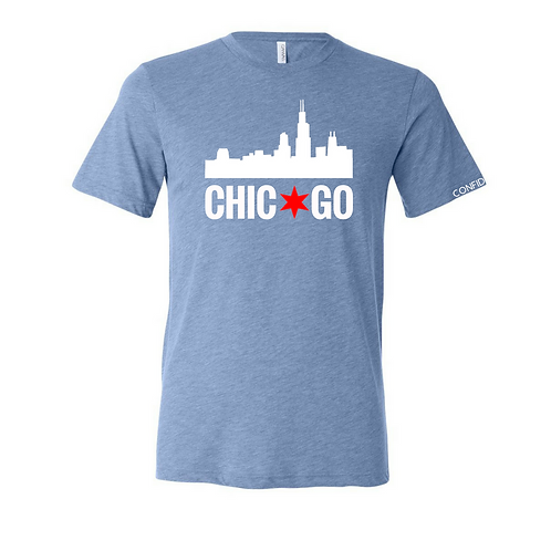 Chicago Skyline Tee (CHI Blue)