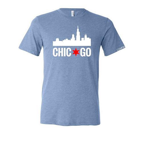 Chicago Skyline Tee (CHI Blue)