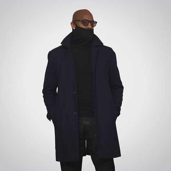 Statement Wool Leather Accent Coat
