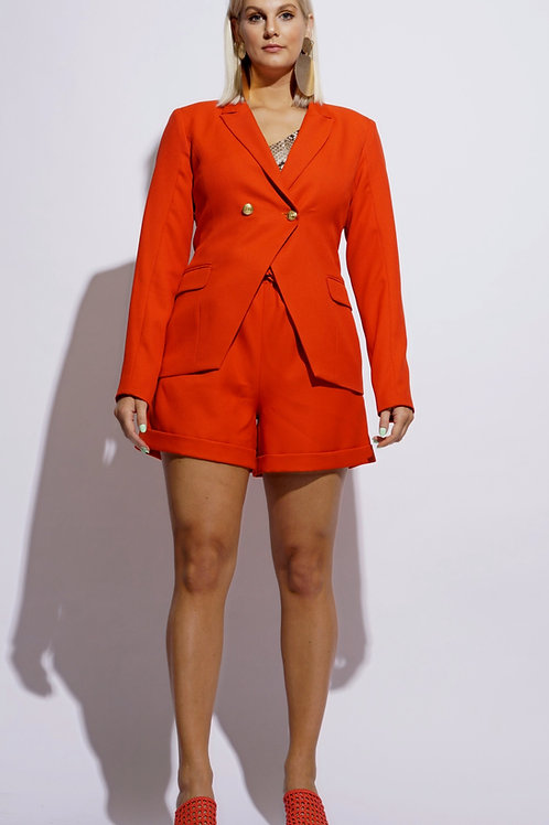Deep Orange Short Suit