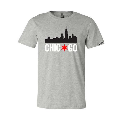 Chicago Skyline Tee (Grey)