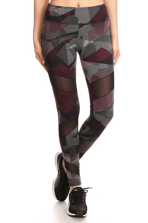 Angle Print Yoga Pant