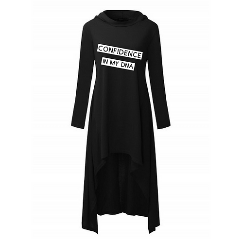 CONFIDENCE In My DNA Hoodie Dress