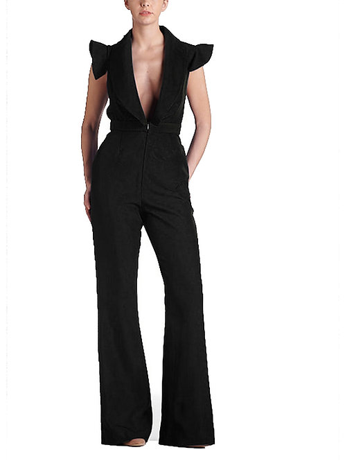 Amina Black Jumpsuit