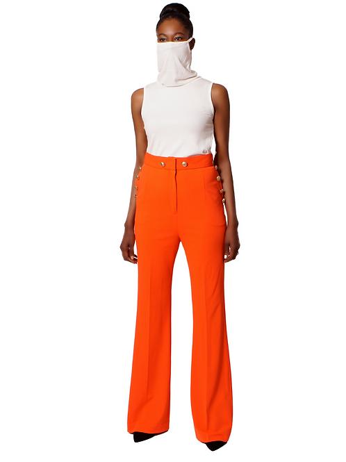 Tangerine High Waist Trouser