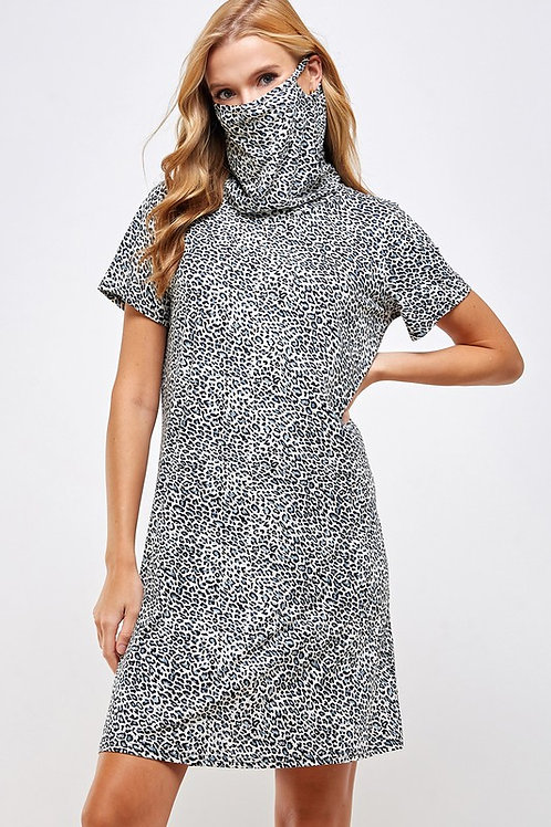 Dress Face Covering (Grey leopard)