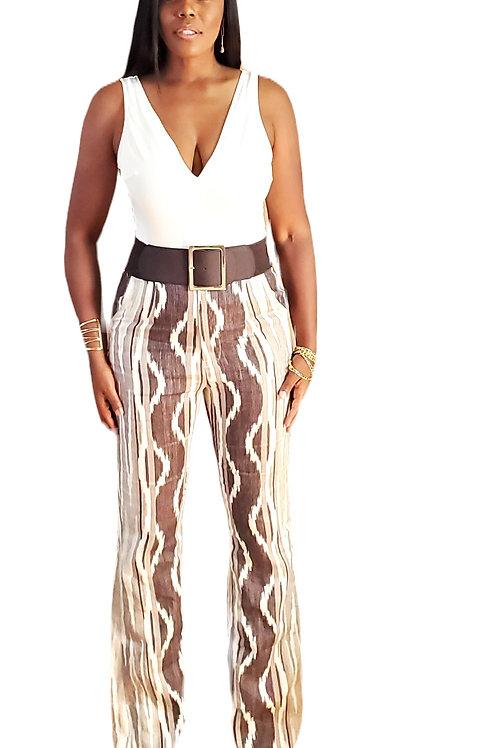 Printed linen Trouser