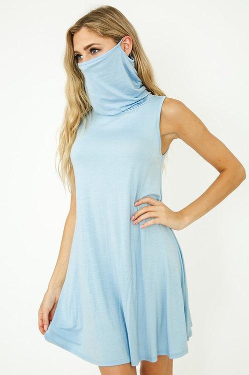 Dress Face Covering (Sky Blue)