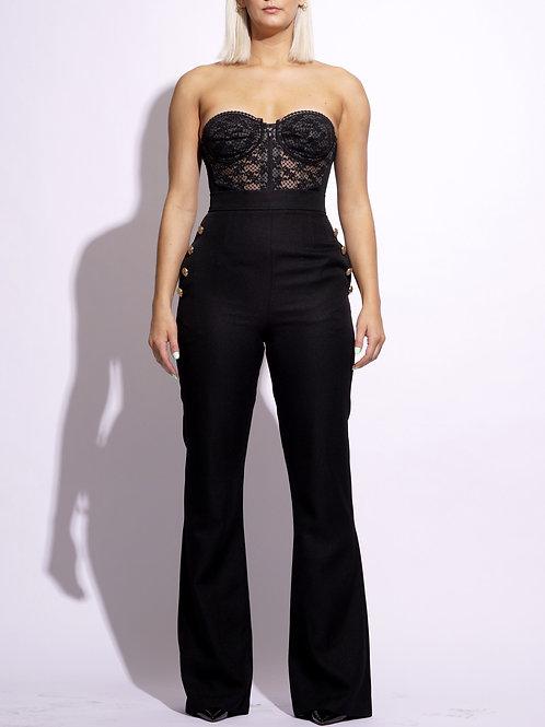 Semi Flare Trouser (Black)