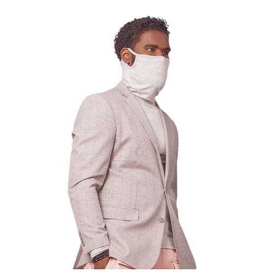 Grey Long-Sleeve Face Cover Shirt