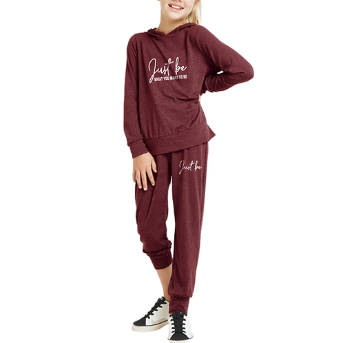 Just Be Hooded Sweatsuit