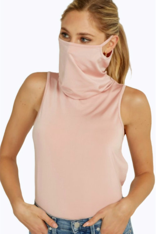 Crop Top Face Cover (Mauve)