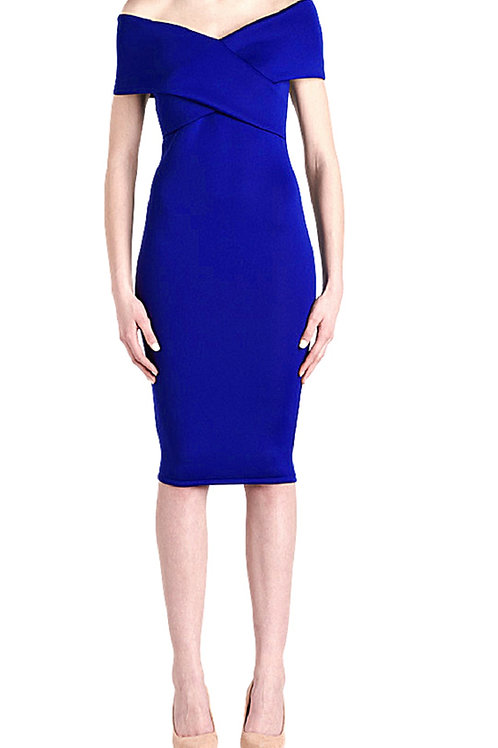 Off shoulder (Classic Blue) Dress
