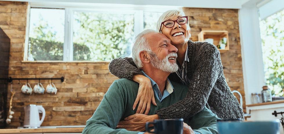 Senior couple enjoying their free because Med2U came to them.