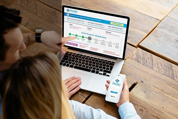 Medical Team Using Client Portal