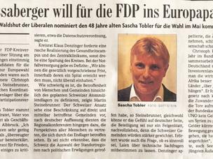 Ein Küssaberger will für die FDP ins Europaparlament