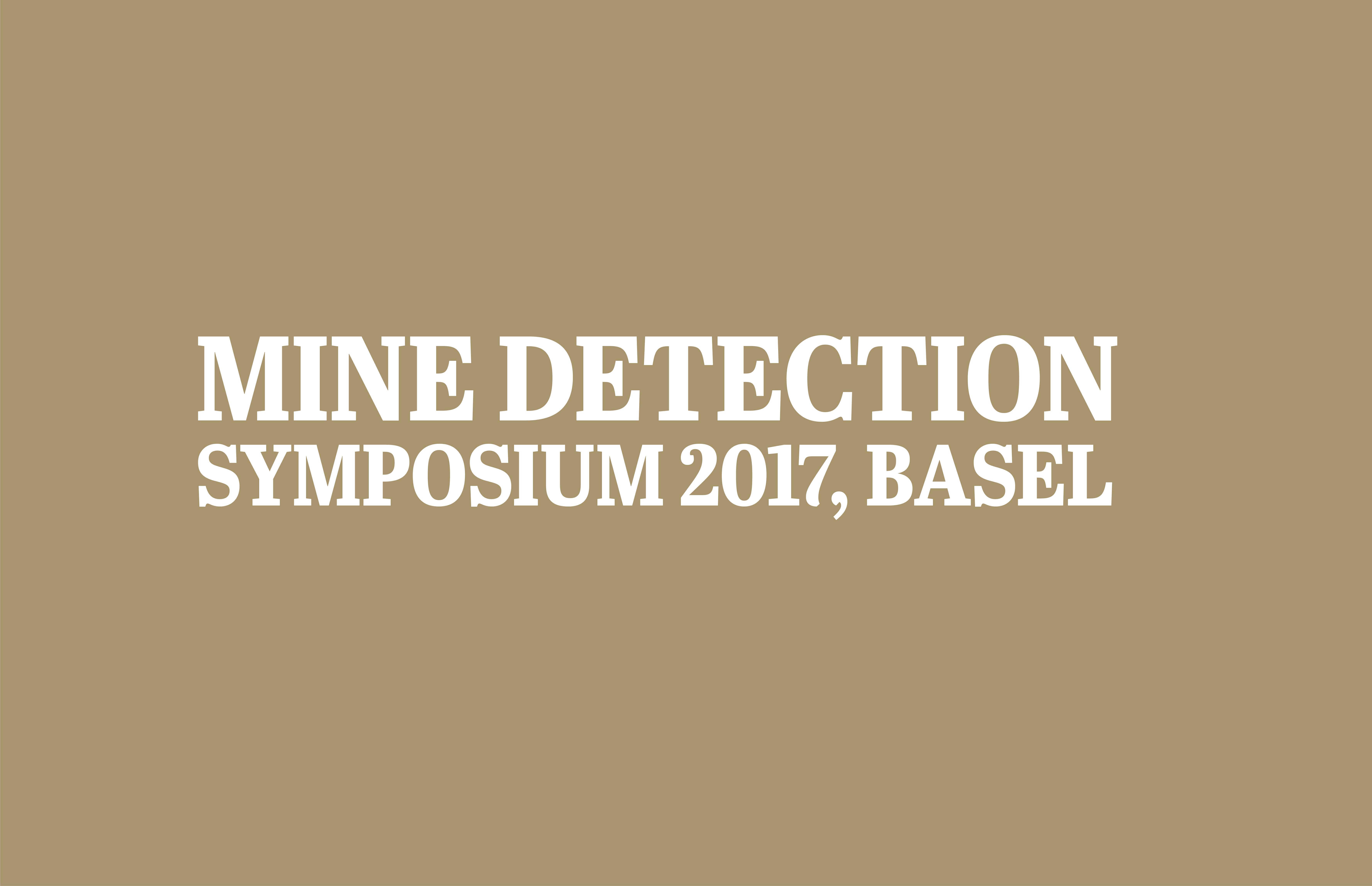 Mine detection Symposium 2017