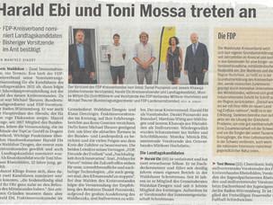 Harald Ebi und Toni Massa treten an