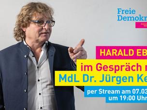 Harald Ebi & Toni Mossa im Gespräch mit MdL Jürgen Keck