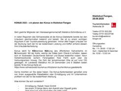 KONUS 2022- wir planen den Konus in Waldshut-Tiengen